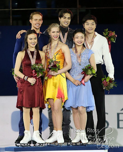Chock & Bates (USA) - silver; Weaver & Poje (CAN) - gold; and Shibutani & Shibutani (USA) - bronze