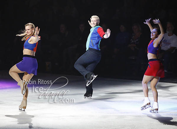 Madison Hubbell, Jeremy Abbott and Ashley Wagner