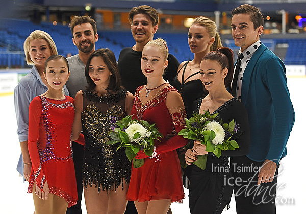 2018 Finlandia Trophy Dance and Ladies Medalists